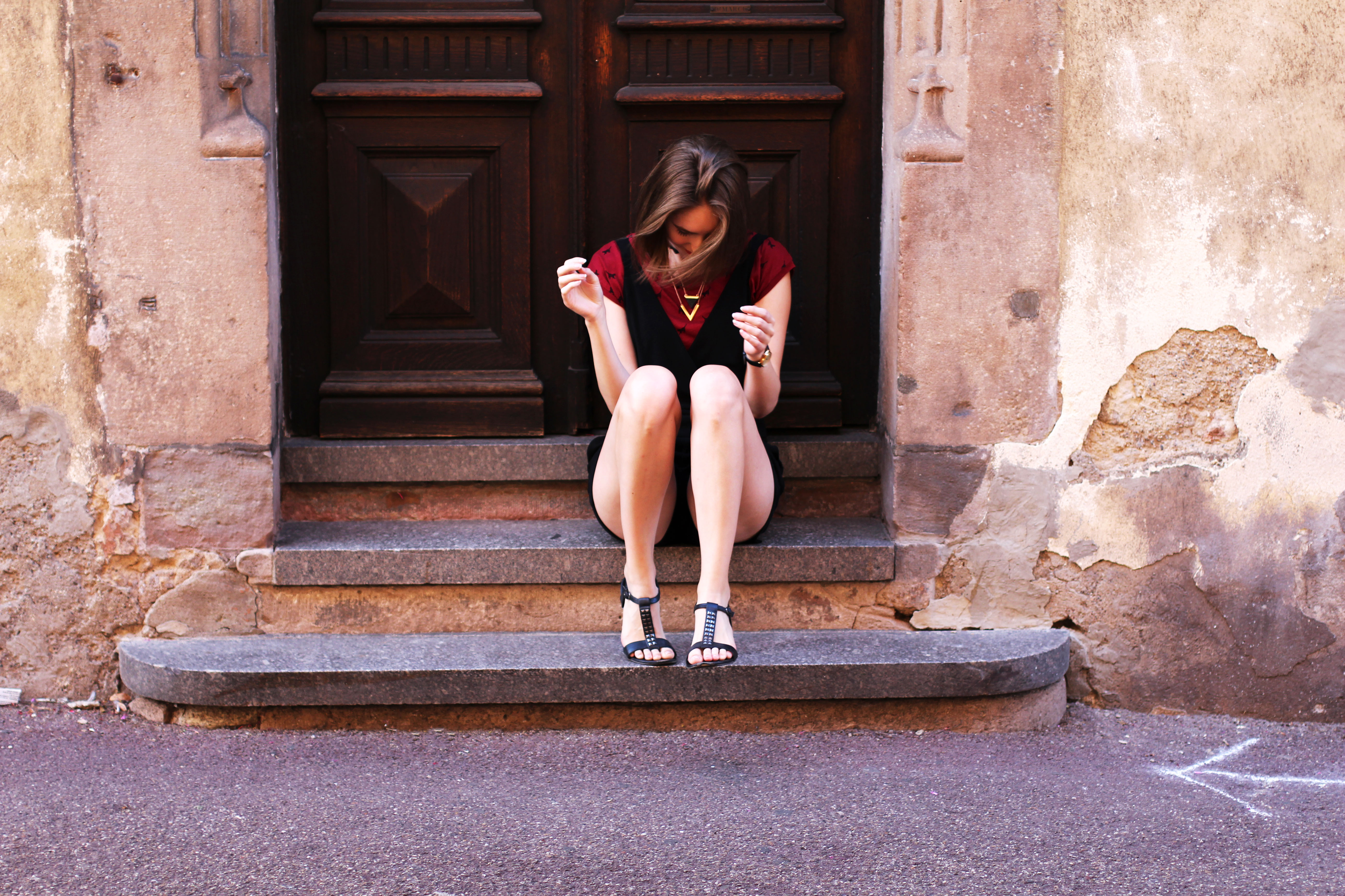 Swiss fashion blogger cat summer outfit combi short