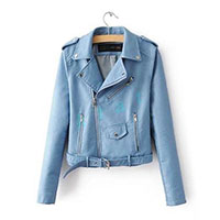 ebay outfit swiss fashion blogger faux leather jacket blue lace playsuit