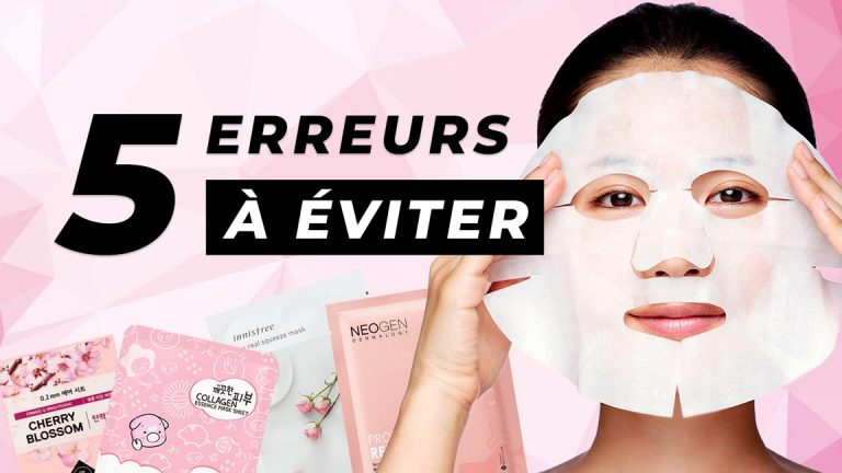 Masque coréen : 5 erreurs à éviter